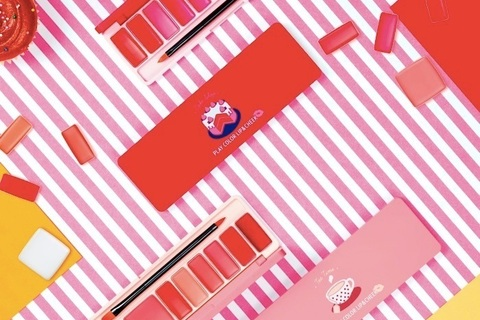 素敵な発色に心ときめく。エチュードハウスの新作「プレイカラーリップ&チーク」が可愛い