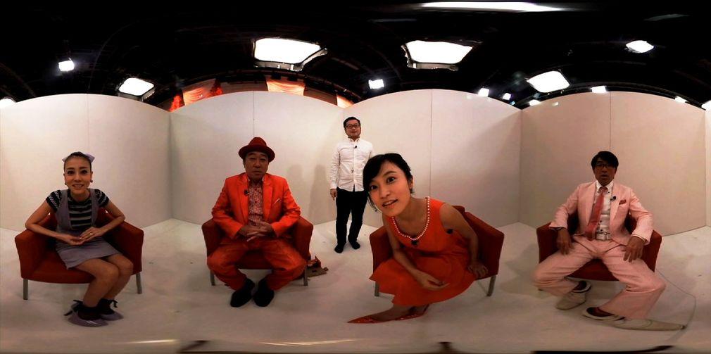 VR第一話は、レギュラー陣がVRカメラを囲んで「ピンポンパンモノマネゲーム」に挑戦☆|「あのゆる〜い世界がVRに!!『トゥルルさまぁ~ず VR』3月31日配信開始」の1枚目の画像