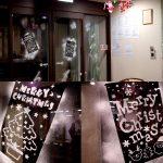玄関のクリスマス飾り