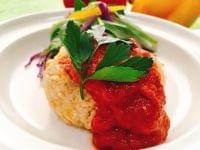 【レシピ】高野豆腐のハンバーグ 薬膳クコソース添え