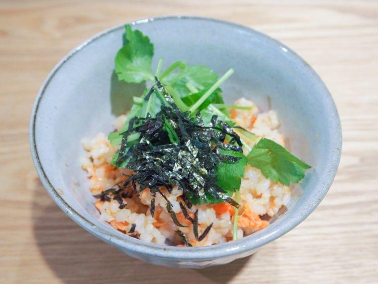 【レシピ】鮭の玄米茶づけ