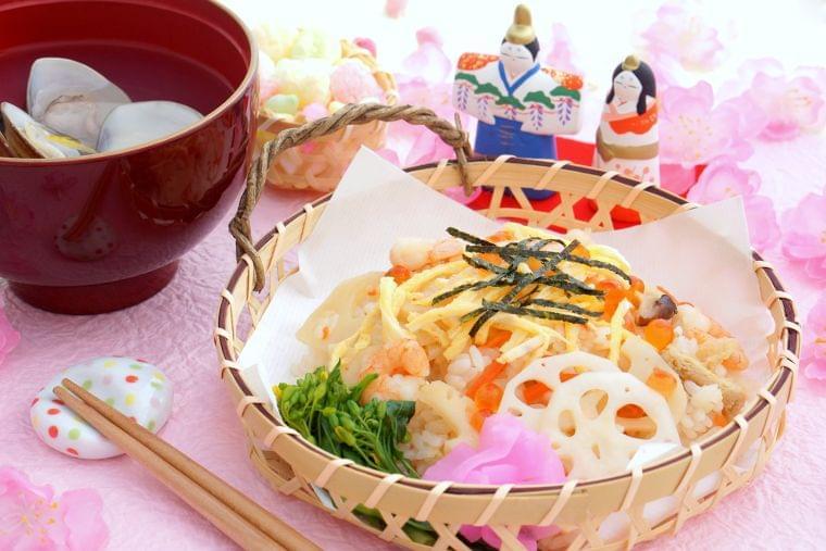 女の子の幸せを願うひな祭りの料理