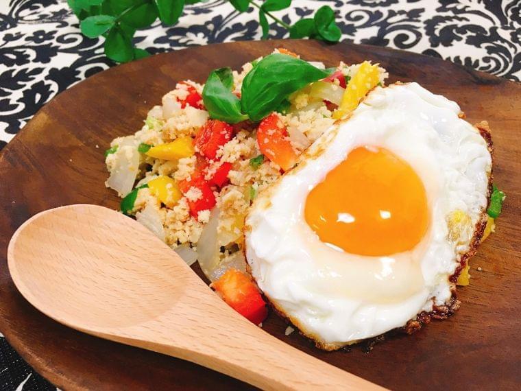 【レシピ】高野豆腐のガパオライス風プレート