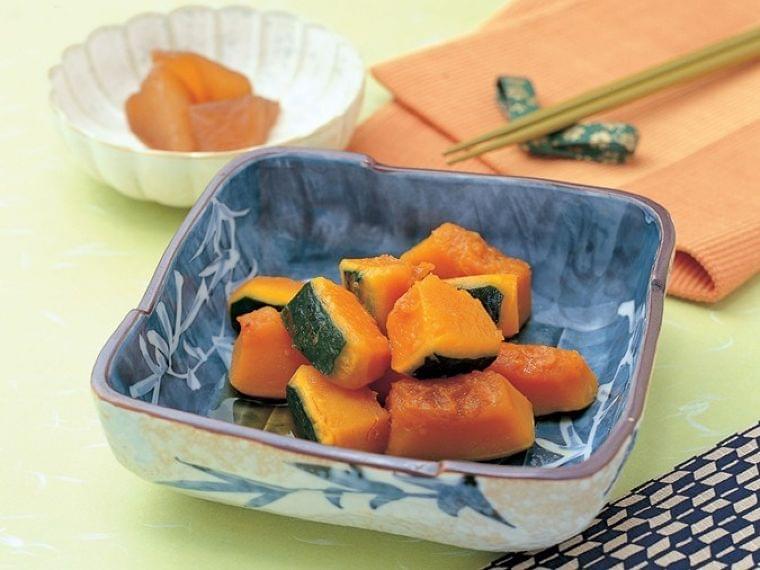 【レシピ】 白だしでつくる 簡単 かぼちゃの煮物