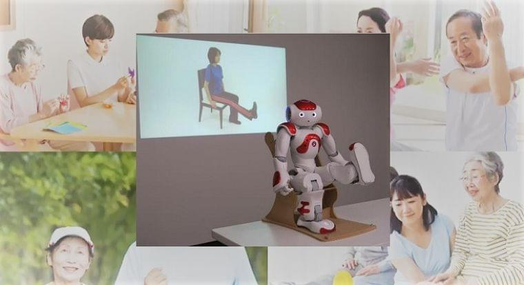 ロボットPepperやNAOが健康寿命を延ばす!介護予防体操アプリを導入すると体操の参加率が増加傾向に | ロボスタ