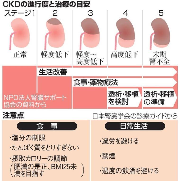 慢性腎臓病、生活改善で悪化を防ごう:朝日新聞デジタル