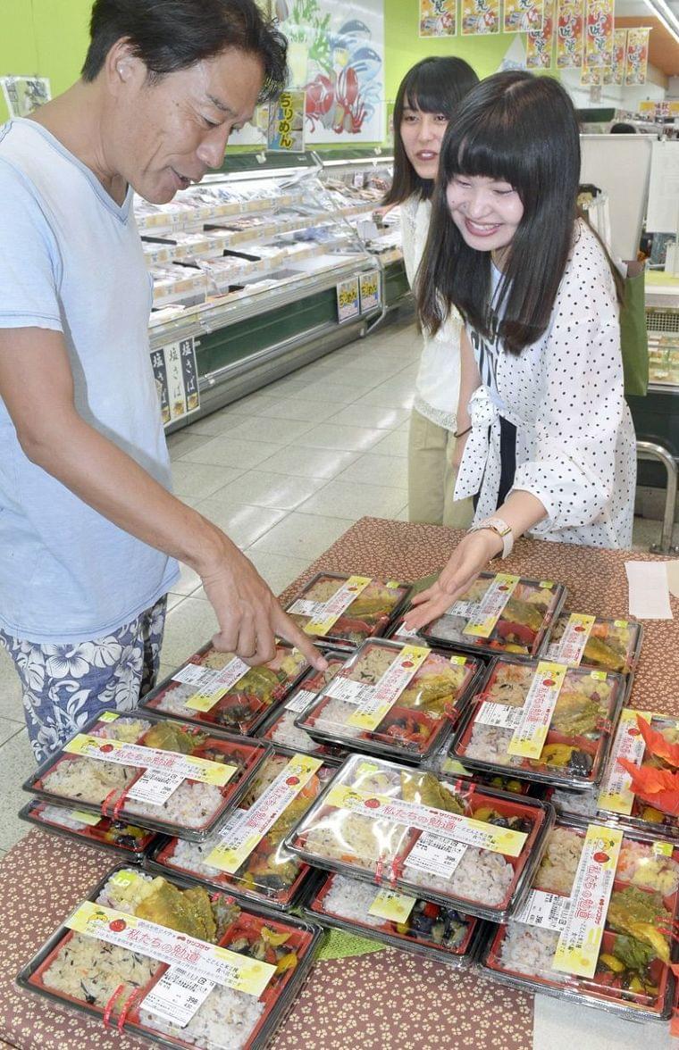 栄養士へ勉学の成果 高知県大生の「勉道(べんとう)」食べて サンプラザと開発|高知新聞