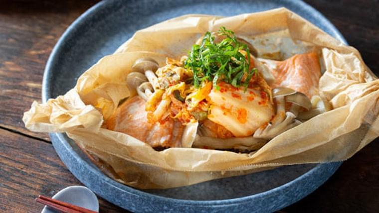 サケとキムチの包み焼き…ピリ辛風味でご飯もすすむ : yomiDr./ヨミドクター(読売新聞)