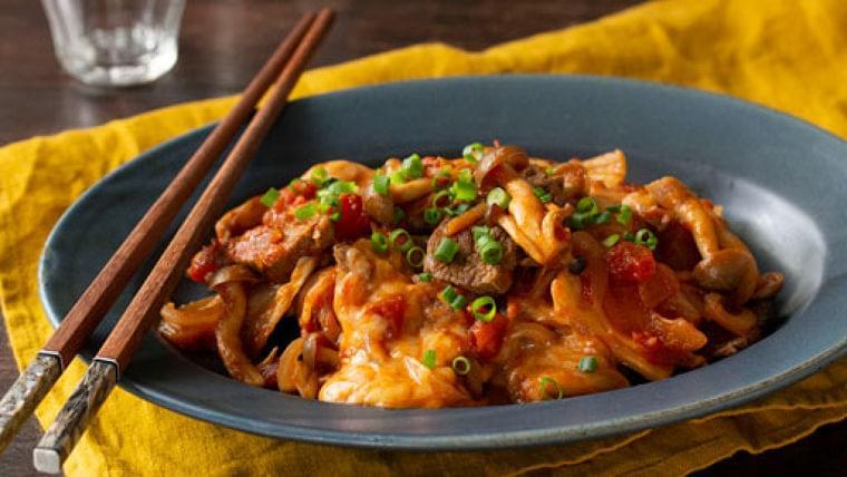 牛肉のトマトとキムチのいため…野菜と一緒に食べる : yomiDr./ヨミドクター(読売新聞)