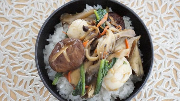 キノコホタテ丼…うま味成分合わさり、より深い味わい : yomiDr./ヨミドクター(読売新聞)
