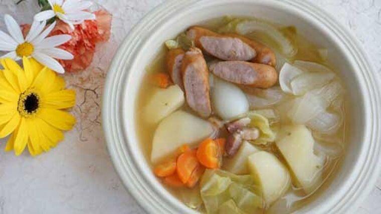 新タマネギのポトフスープ…コトコト煮込んだ : yomiDr./ヨミドクター(読売新聞)