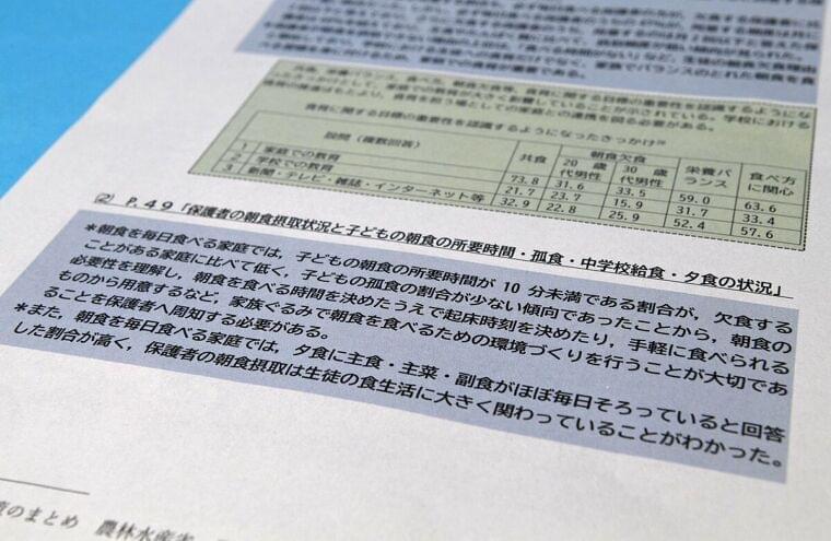 「家族で食事」できない親はダメ? 教育委員会の食育方針に疑問の声|文化・ライフ|地域のニュース|京都新聞