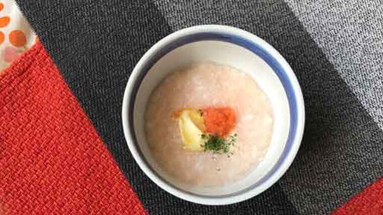 洋風明太子粥…お粥をおいしくエネルギーアップ   ヨミドクター(読売新聞)