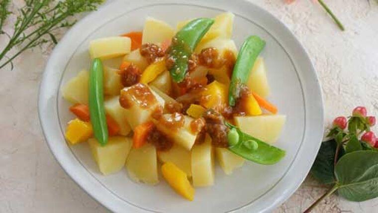 ジャガイモとスナップエンドウのみそサラダ…さやと実の両方が食べられる野菜   ヨミドクター(読売新聞)