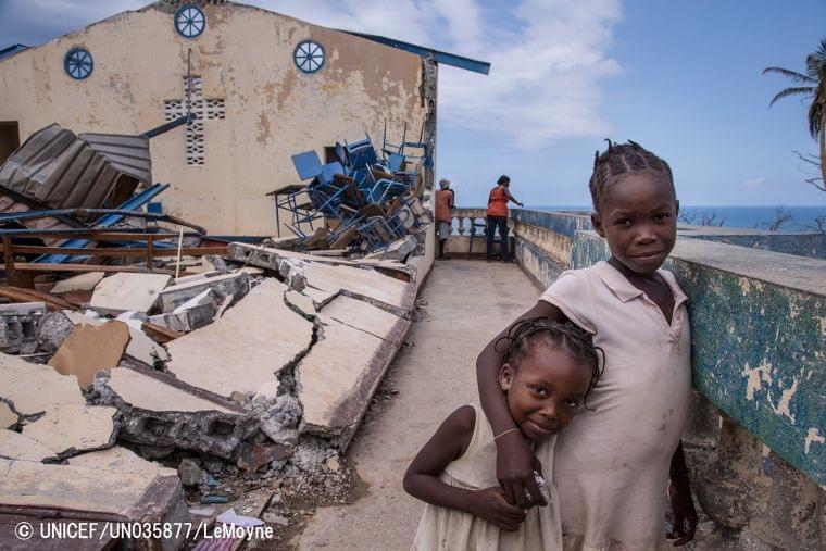 ハイチ:ハリケーン被害から1カ月いまだ高い人道支援ニーズ-60万人近い子どもが支援を待つ被災地【報道参考資料】|公益財団法人日本ユニセフ協会のプレスリリース