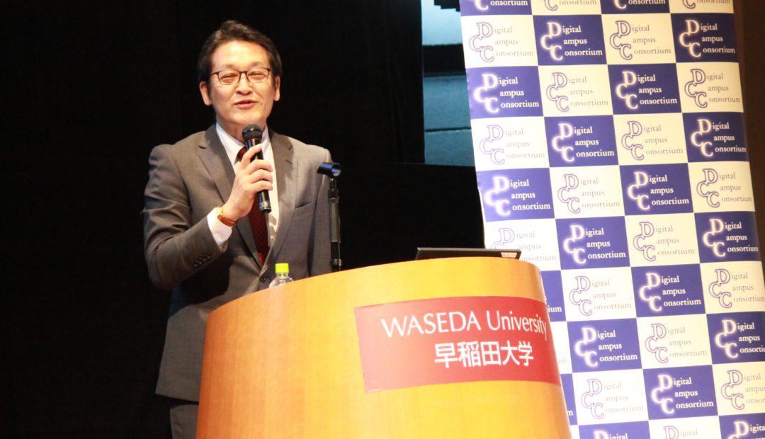 株式会社ソニーの人事採用について説明する同社人事センター採用部統括部長の北島久嗣さん。