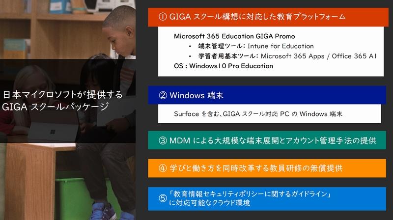 GIGAスクール構想実現に向けた今とこれから~日本マイクロソフトの取り組み