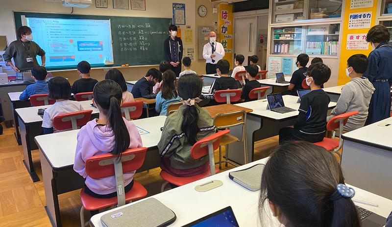「TechAcademyジュニア」による渋谷区立長谷戸小学校でのプログラミング特別授業レポート