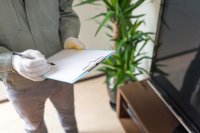 家財道具の処分のために見積りする業者