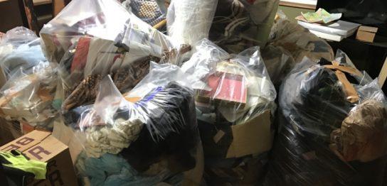大掃除で出た大量のゴミ
