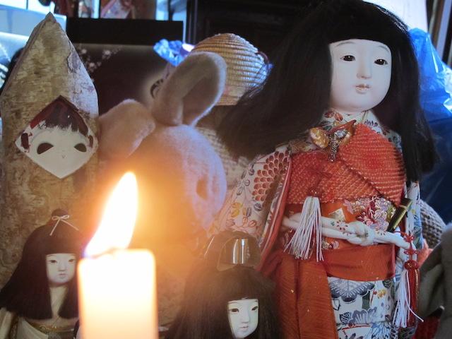 供養希望で送られてきた人形たち