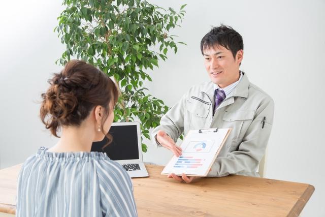 ナナフク横浜の社員の顧客対応の写真