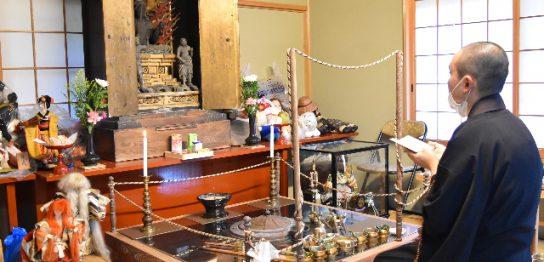 第20回丹州観音寺の人形供養祭の様子