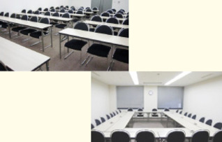 会議室5〜6連結利用(スクール型:84名)
