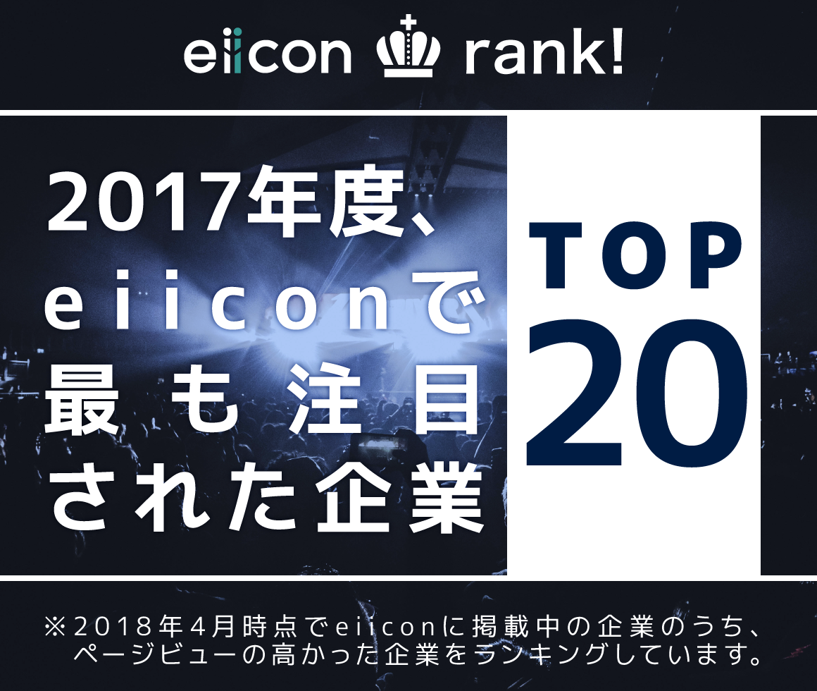 2017年度、eiiconで最も注目された企業トップ20