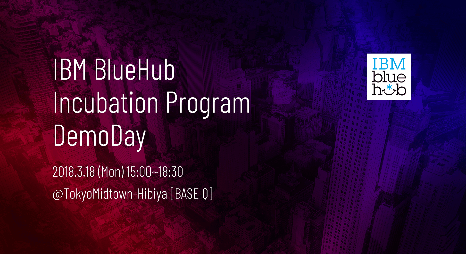 IBM BlueHub Incubation Program DemoDay