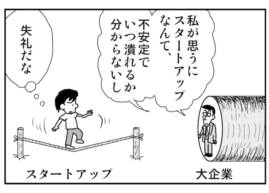 【連載/4コマ漫画コラム(19)】スタートアップとの話し方 ①  こんなところは注意!