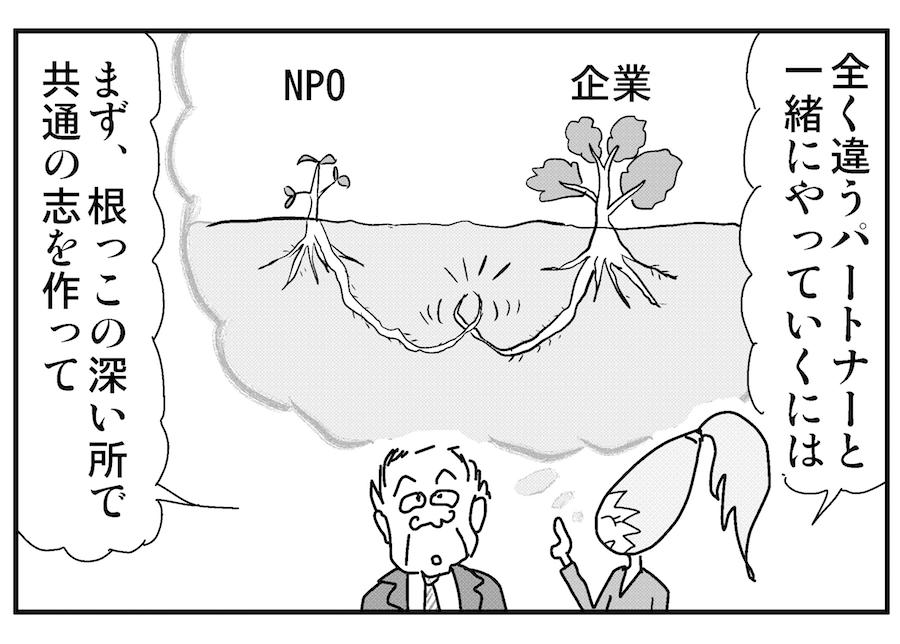 【連載/4コマ漫画コラム(28)】オープンでイノベーションを生んだ小さな事例② ~インドのNPOとの素晴らしい活動~