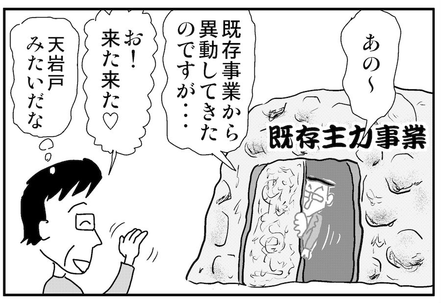 【連載/4コマ漫画コラム(33)】異動してきた若手をイノベーション色に染めるには?