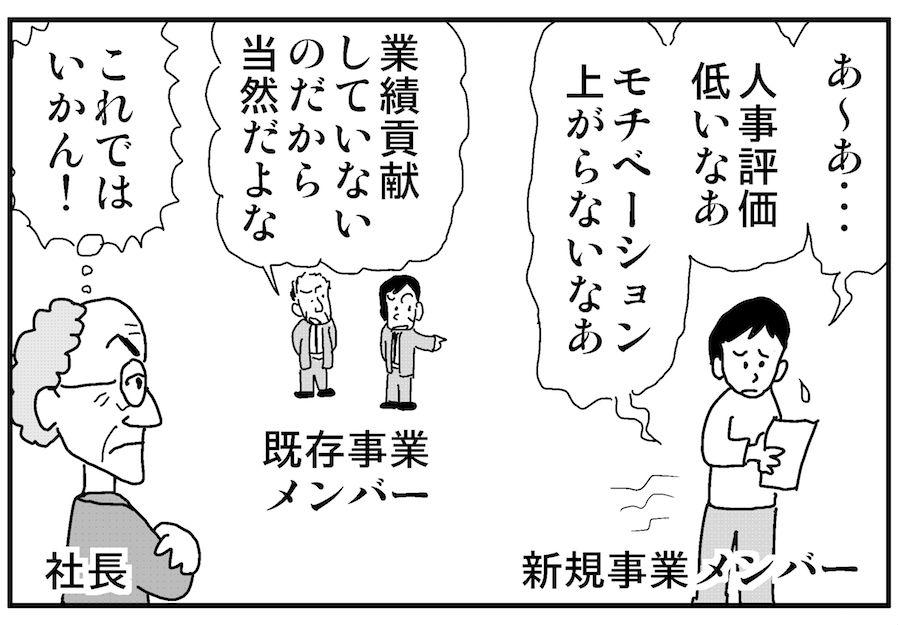 【連載/4コマ漫画コラム(36)】 新規事業担当者の評価