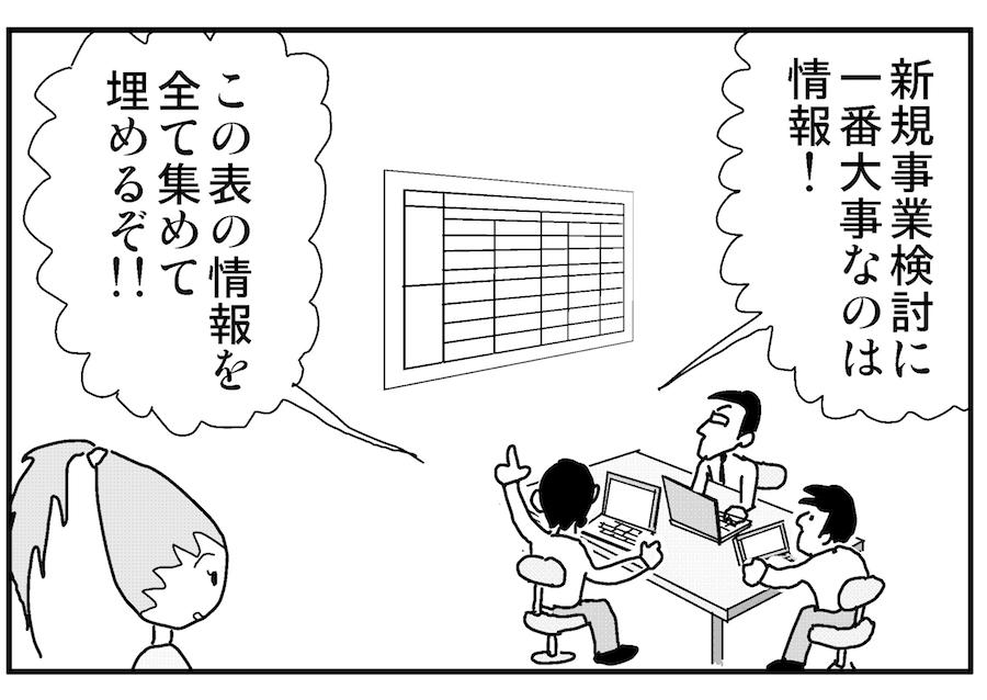 【連載/4コマ漫画コラム(38)】 新規事業の未来を切り拓くための情報収集法