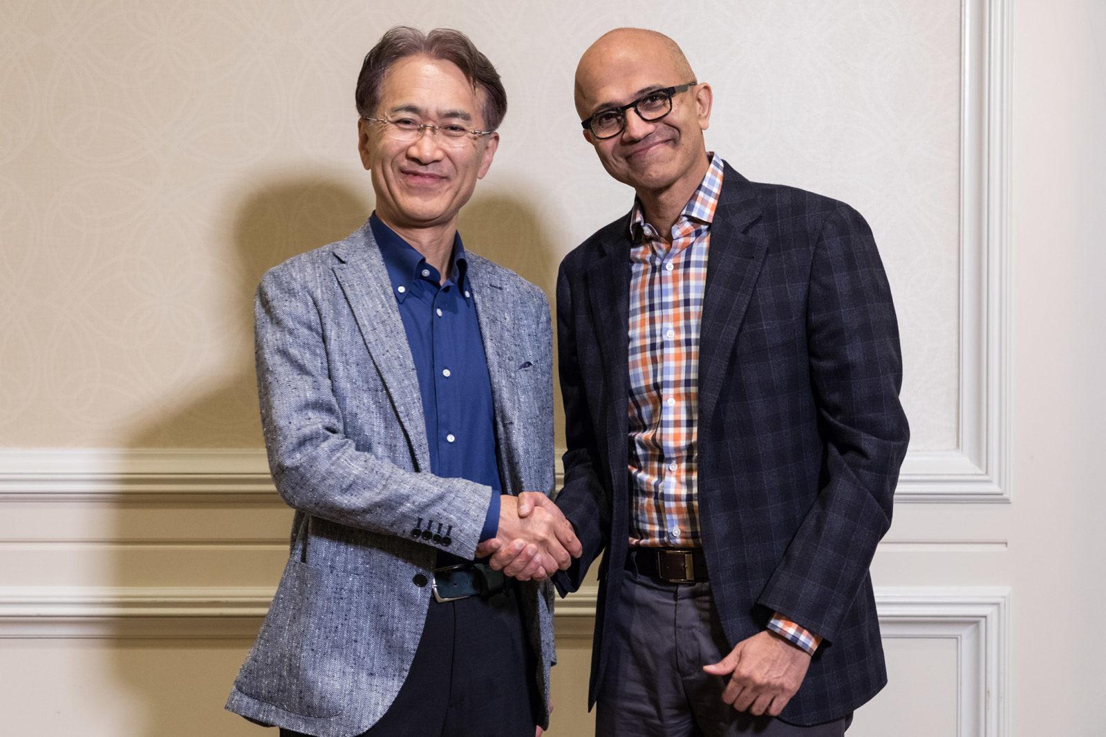 ソニーとマイクロソフト、戦略的提携に向けパートナーシップを締結