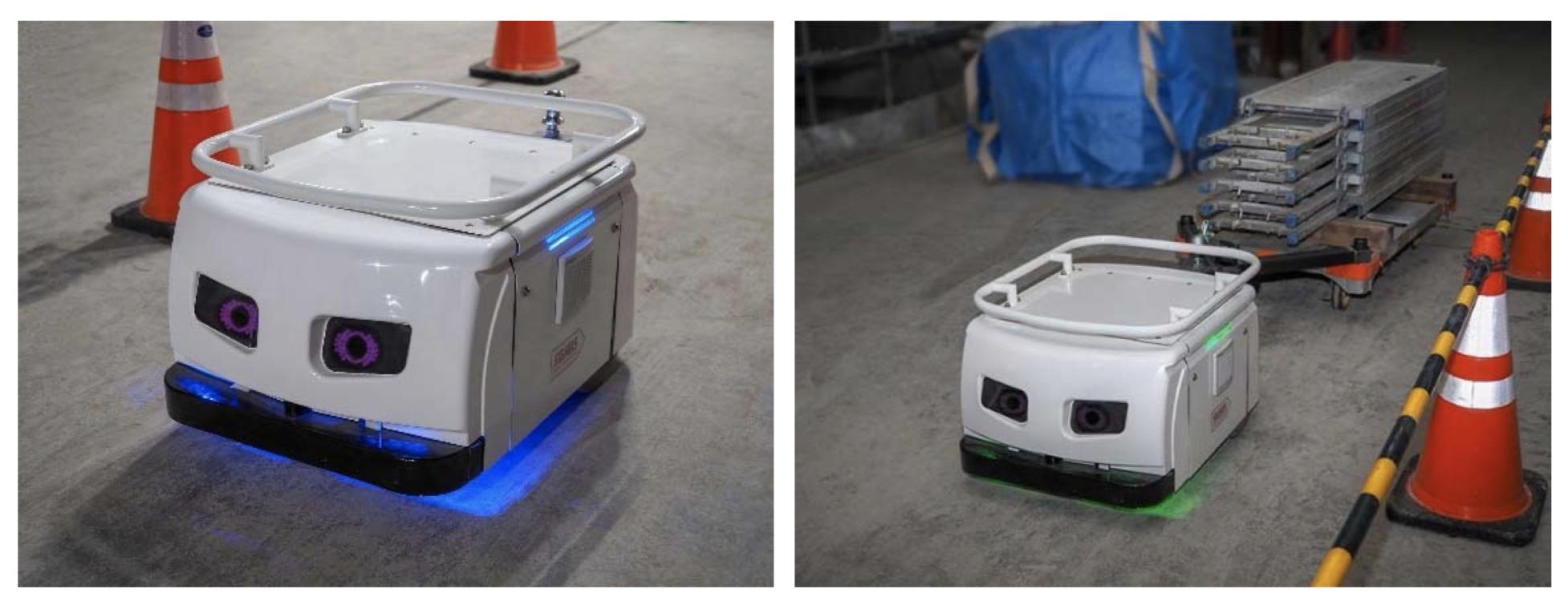 東急建設とTHK、建設現場用搬送ロボットの実証実験を開始