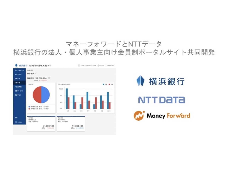 マネーフォワード×NTTデータ|横浜銀行の法人・個人事業主向け会員制ポータルサイトを共同開発