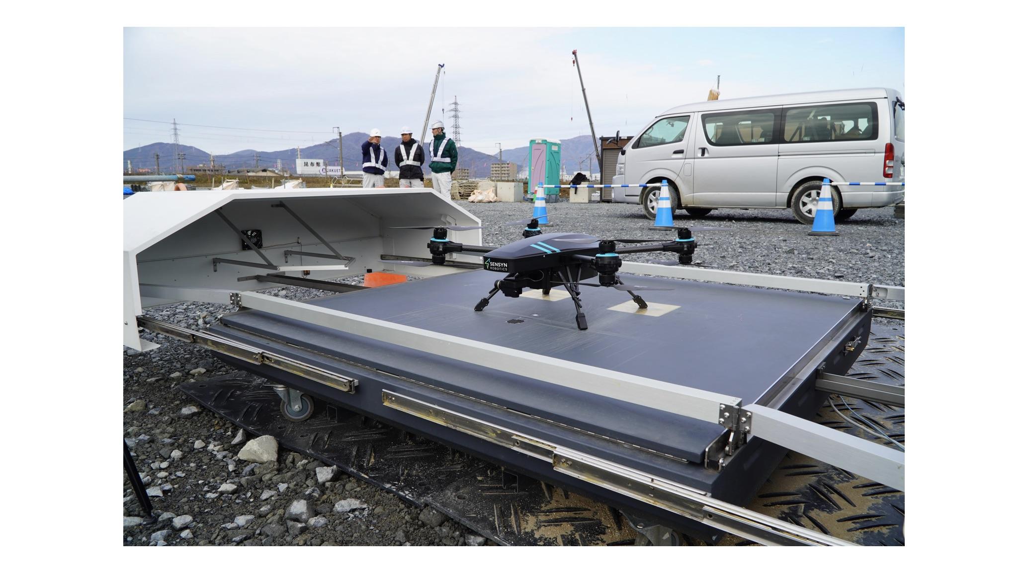センシンロボティクス×フジタ | 『SENSYN DRONE HUB』を活用した安全巡視・土木測量の機能検証を建設現場にて実施