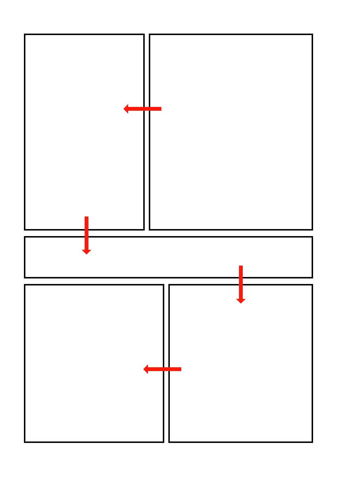 Sens lecture manga planche komawari no kihon mihiraki komawari fondement