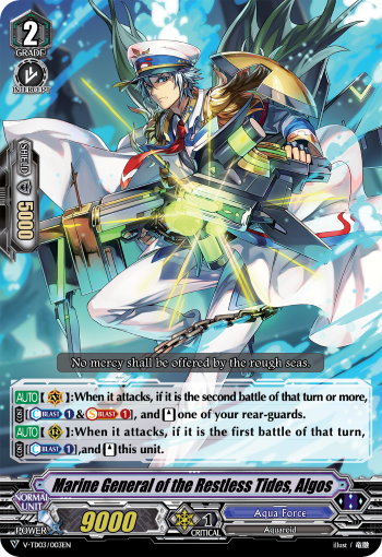 Marine General of the Restless Tides, Algos