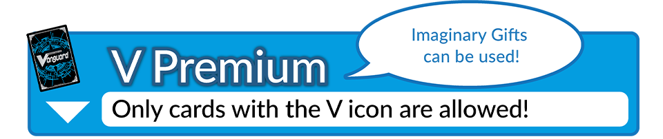 V Premium Only cards with v icon are allowed