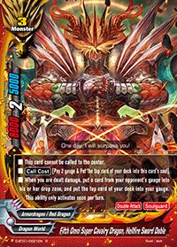 Fifth Omni Super Cavalry Dragon, Hellfire Sword Doble