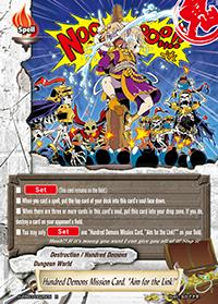 "Hundred Demons Mission Card, ""Aim for the Link!"""