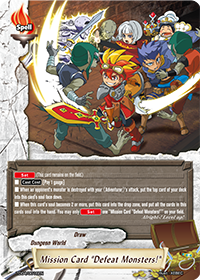 "Mission Card ""Defeat Monsters!"""