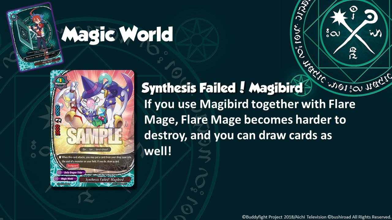Future Card Buddyfight Updates on sss02 Synthesis Failed Magibird