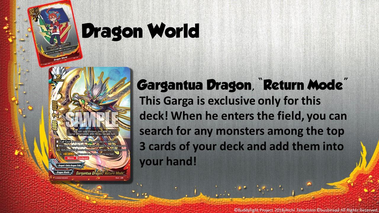 Future Card Buddyfight Updates on sss02 Gargantua Dragon,