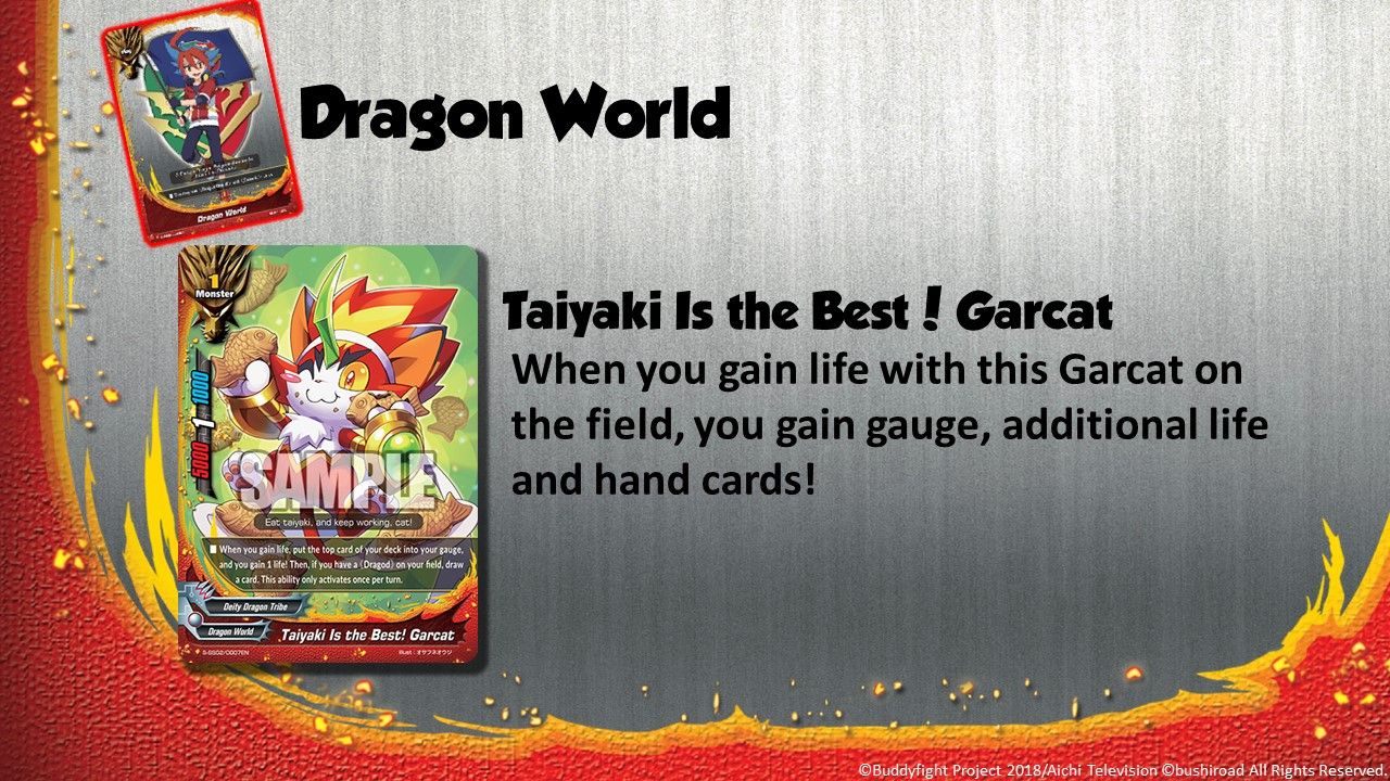 Future Card Buddyfight Updates on sss02 Taiyaki is the best Garcat