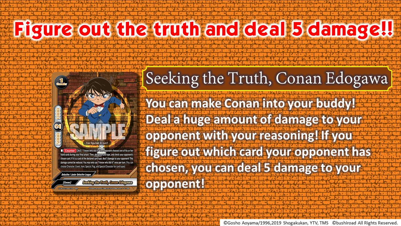 Introducing Seeking the Truth, Conan Edogawa