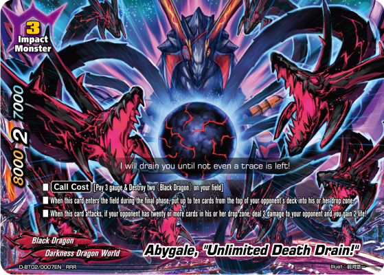Future Card Buddyfight Abygale, Unlimited Death Drain!